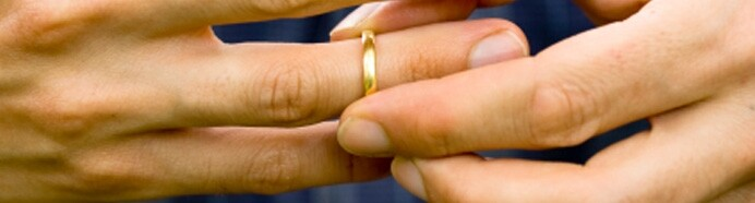 Ring being removed from finger